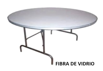 VENTA MESA REDONDA FIBRA DE VIDRIO