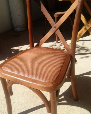 silla crossback madera nacional madera de pino y asiento petatillo