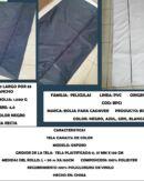 bolsa para cadaver tela plastificada