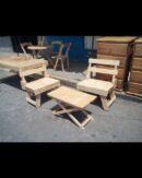 banca plegable de madera para uso rustico o campirano